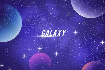 梦幻银河系背景图