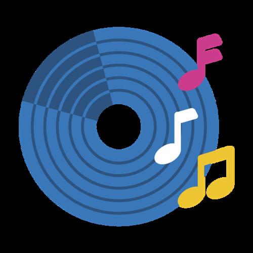 音乐光盘矢量图