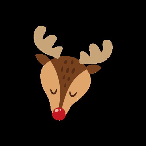 圣诞麋鹿贴纸