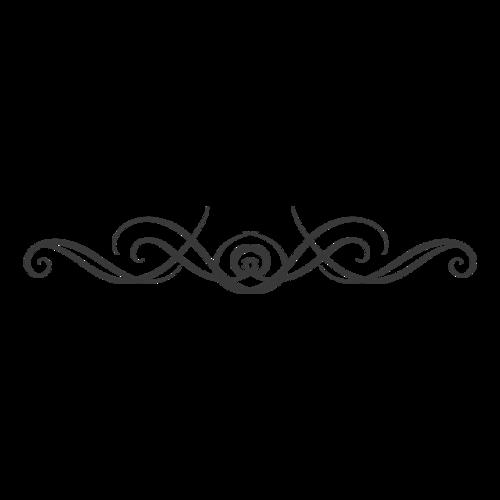 欧式黑色花纹