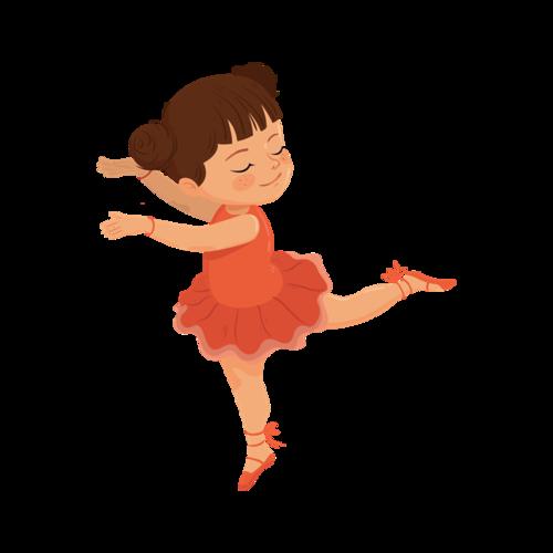 小女孩跳舞插画