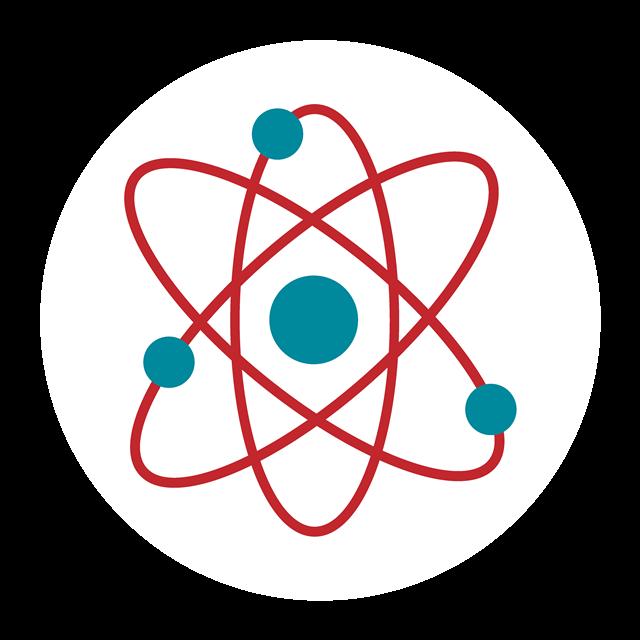 卡通原子结构示意图