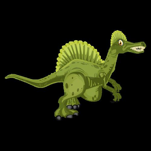 可爱恐龙插画