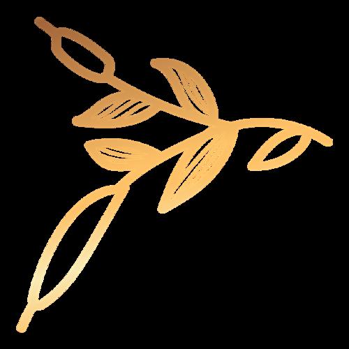 金色镂空树叶