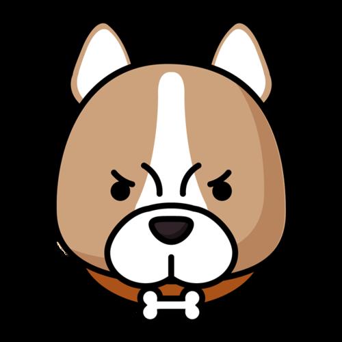 柴犬狗头矢量图