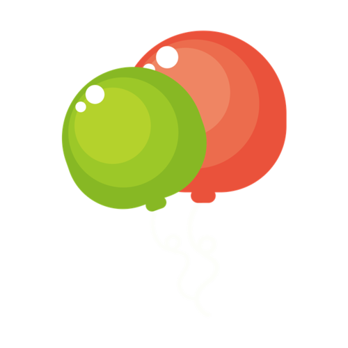 卡通彩色气球