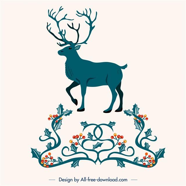 圣诞节麋鹿插画