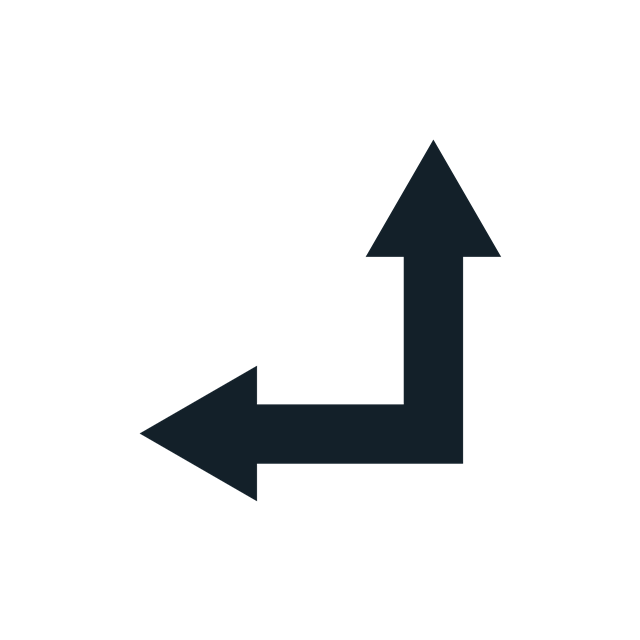 左转直行方向标