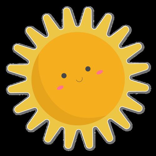 可爱太阳矢量图
