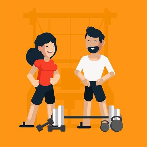 健身运动插画图片
