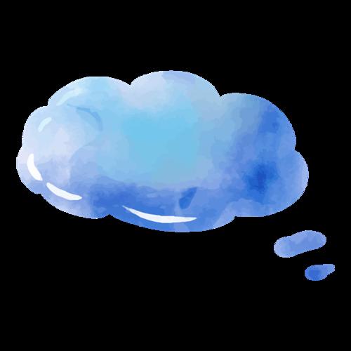 彩色云朵对话框图片