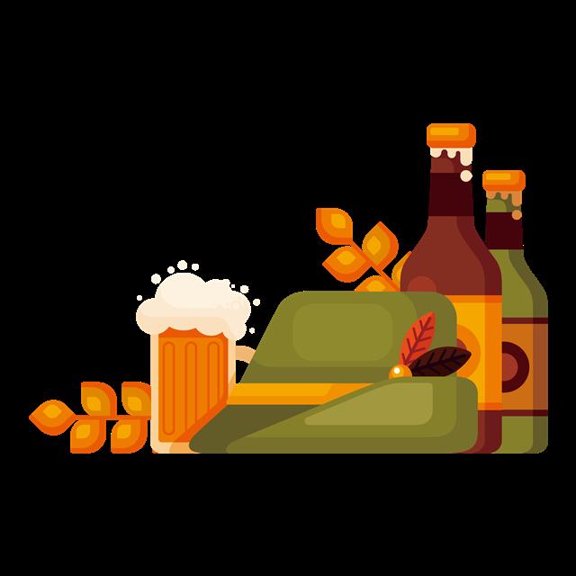 大麦啤酒矢量图