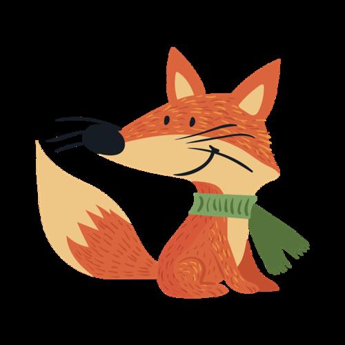 秋天狐狸矢量图