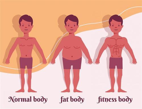 健身男子矢量图片