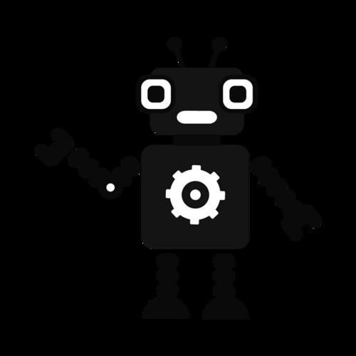 黑色机器人矢量素材