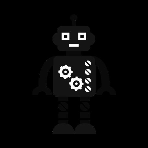 黑色机器人玩具图片