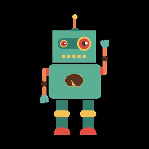可爱小机器人图片