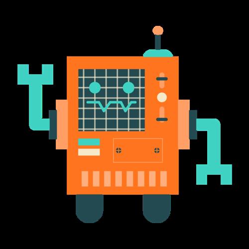 方形机器人矢量图