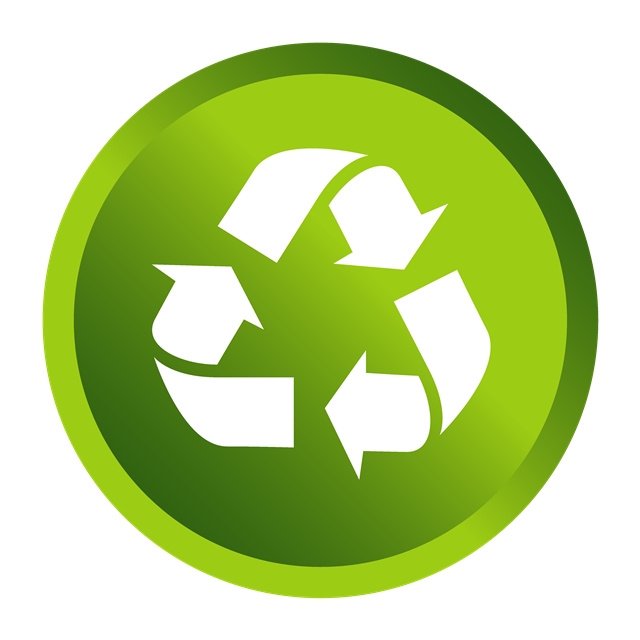 可回收绿色标志图片