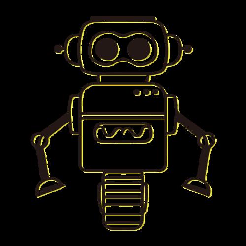 简笔画机器人图片