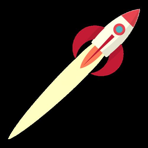 简约火箭矢量图