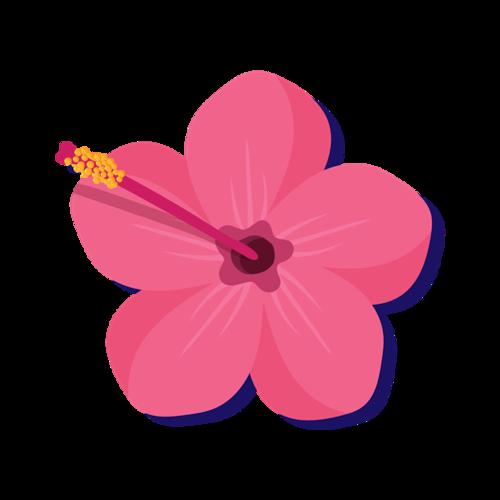 粉色小红手绘图片