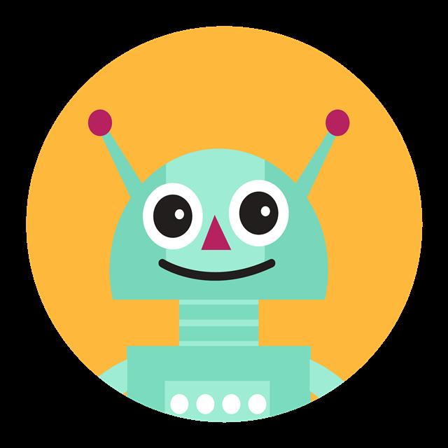 圆形机器人图标