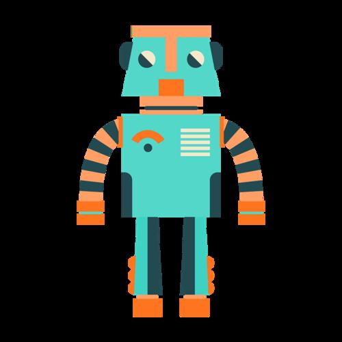 彩色简笔画机器人