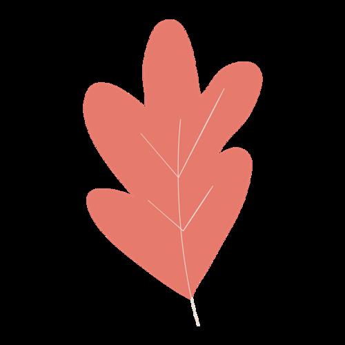 红色树叶矢量图