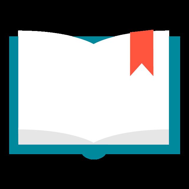 翻开的书本矢量图