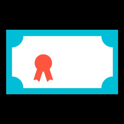 蓝色奖状边框图案