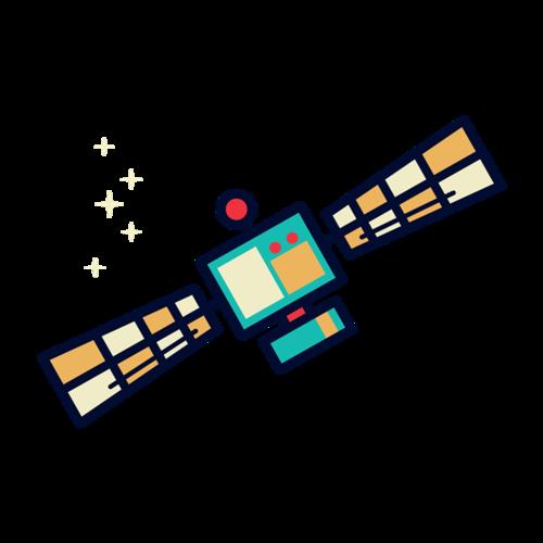 人造卫星矢量图
