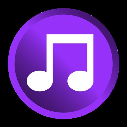 紫色音乐图标
