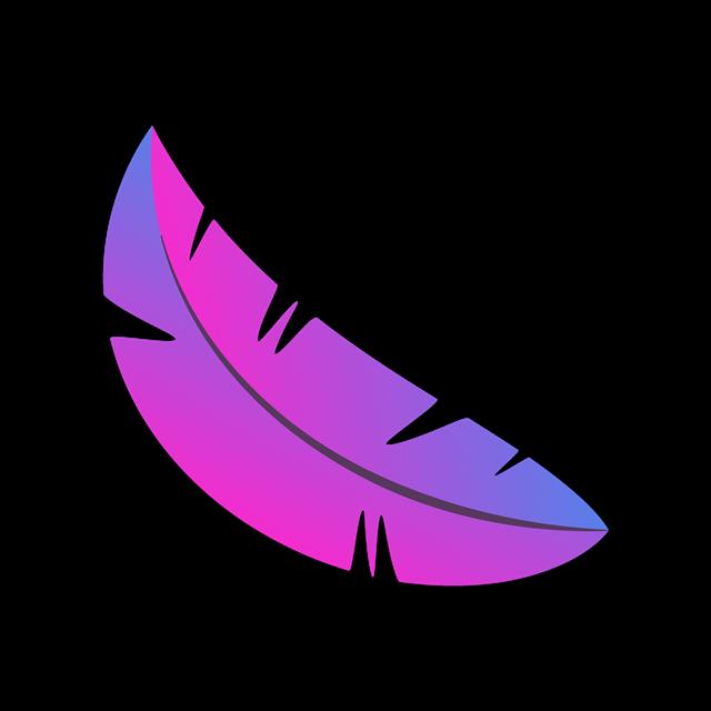 紫色渐变叶子矢量图