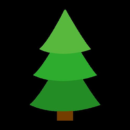 绿色松树矢量图