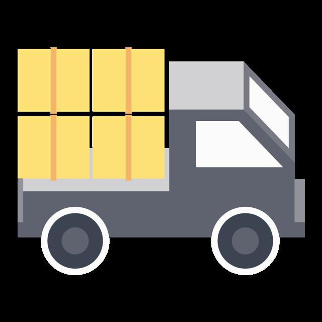 大型货车矢量图