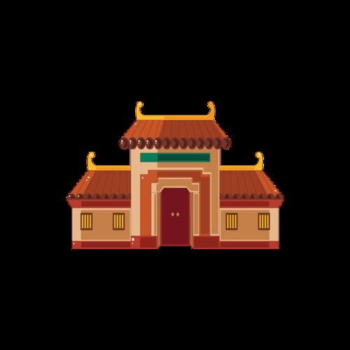 古代建筑矢量图