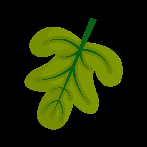 简约绿色叶子