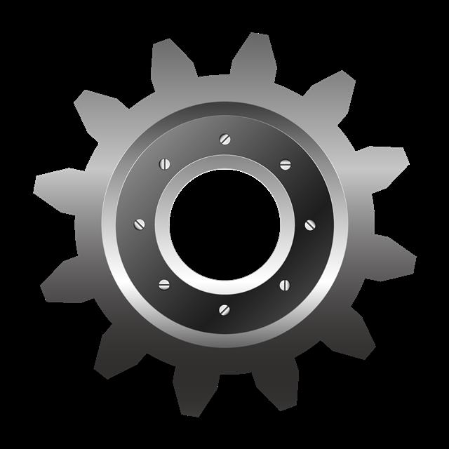 金属齿轮免抠图