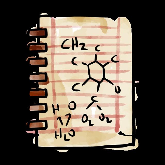 化学本子矢量图