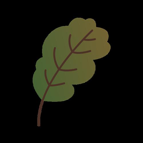 卡通绿叶元素