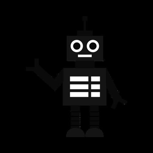 创意机器人矢量图