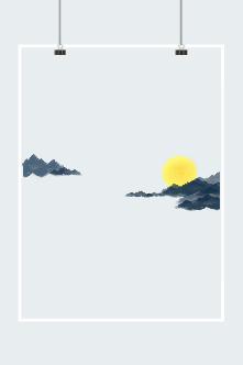 云中月亮图片
