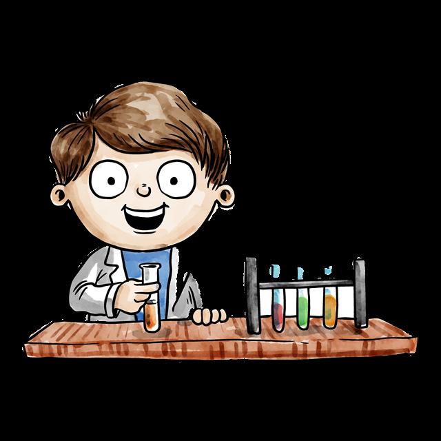 化学实验人物矢量图