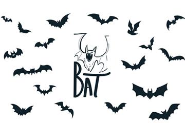 万圣节蝙蝠矢量图