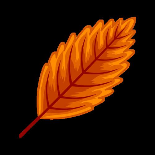 手绘秋季落叶图片