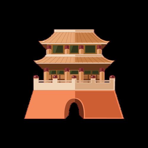 城楼矢量图