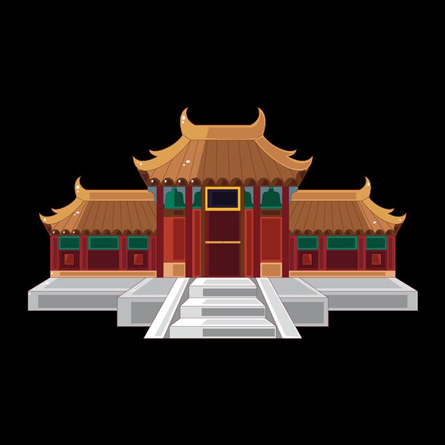 古代宫殿插画