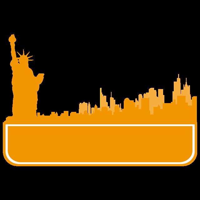 纽约城市建筑矢量图