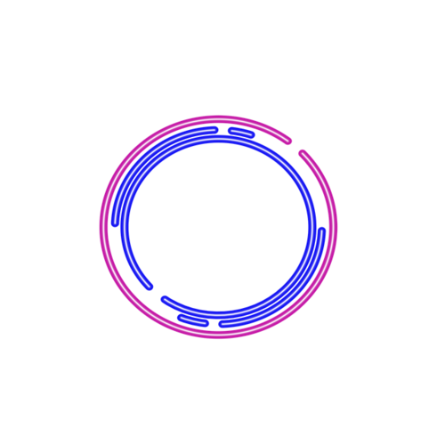 科技感圆环边框矢量图